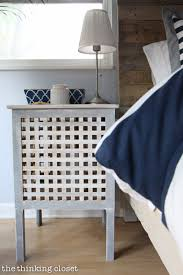 nautical bedroom decor. ikea hacked hol side tables, part of a rustic nautical master bedroom makeover via thinkingcloset decor