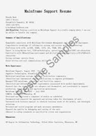 Sample Resume for Experienced Mainframe Developer Inspirational Samples Of Resumes  Sample Simple within Resume format Sample