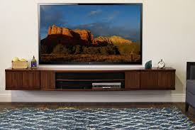 Floating Tv Stand Floating Tv Stand Console Curve 3 Piece Mocha Woodwaves