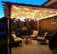 pergola string lights set a romantic mood in your backyard page 2 for outdoor lighting plan 0 patio light ideas13 ideas