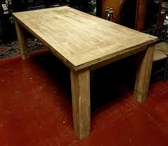 Very Large Rustic Reclaimed Oak Farmhouse Style Kitchen Dining Table