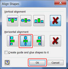 Rotating a linked visio object in word. How To Quickly Align Shapes In Your Drawing Visio 2007 Perrinator Com