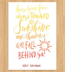 toward the sunshine calligraphy art print art prints posters