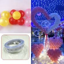 balloon decoration on wall balloon decorating strip balloon arch tape balloon connect chain convenient plastic wall