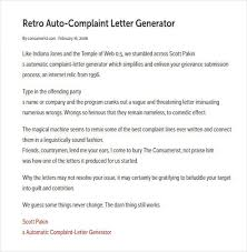 complaint letter examples template for a letter of complaint 12 letter of complaint