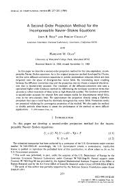 accurate projection methods for the incompressible navier stokes equations request pdf