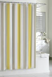 ... Shower Curtain Yellow And SMLF  Stock Photo Striped ...