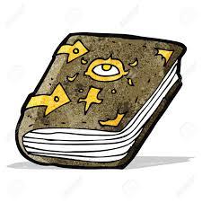cartoon magic spell book stock vector 32710633