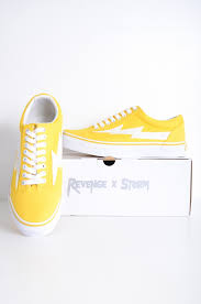 Revenge X Storm Revenge Storm Japan Pop Up Limited Low Frequency Cut Sneakers Skating Shoes Yellow Yellow Sneakers New Mint Condition