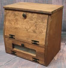 perfect rustic bread box wooden kitchen storage wood vegetable potato bin