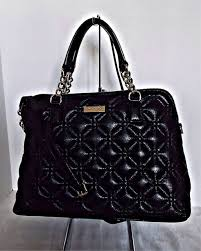 Kate Spade Small Rachelle Black Quilted Leather Satchel Crossbody ... & KATE SPADE - Small Rachelle Astor Court Leather Satchel - Black Adamdwight.com
