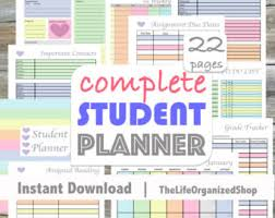 Best Academic Planner For College Students High School Planner Etsy