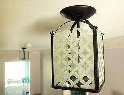 glass painting light fixture