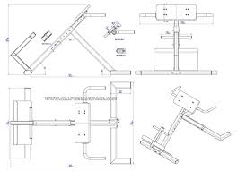 back extension bench plan assembly drawing