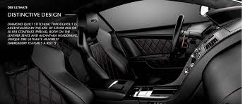 Aston Martin Sneaks Out DBS Ultimate on Consumer Site slideshow ... & Inside the car has diamond-quilted leather seats and a diamond-effect  Alcantara headliner Adamdwight.com
