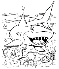 Small Picture A cute picture of a shark Yay A perfect colouring page to match