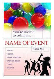 Free Party Invitation Flyer Template Free Online Flyers