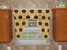 Sunflower Curtains For Kitchen Sunflower Curtains Etsy