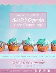Free Grand Opening Flyer Template Bakery Grand Opening Flyer Templates Postermywall