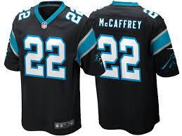 Legend Christian Panthers Inverted Jersey Carolina 22 Silver Mccaffrey