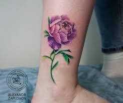 пион акварель Tattoografika