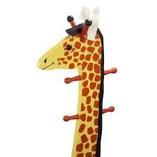 Giraffe Coat Rack Fantasy Fields Hand Carved Safari Stool with Coat Rack in Giraffe 5