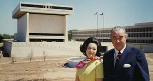 lbjs office president. LBJ Presidential Library: President And Lady Bird Johnson Outside Their Complex, At The University Lbjs Office