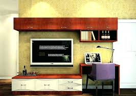 desks desk with tv stand combination and inspirations fabulous combo ideas desktop for inch flat