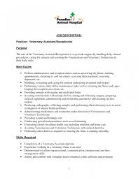 Resume Cover Letter Examples Medical Receptionist For Picture