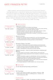 programmer analyst resume samples technical analyst resume