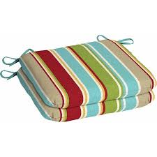 Mainstays Outdoor Patio Seat Pad Set of 2 Grey Stripe Walmart