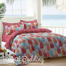 pineapple bright duvet quilt bedding cover and pillowcase intended for covers design 15