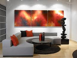 ... Gray And Red Living Room Ideas Stylish With Elegant Paint Ornamnets  Wall Design Set Interior With ...