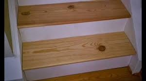 Replacing carpet on stairs with wood Basement Stairs Change Carpet Stairs To Stained Wood Youtube Change Carpet Stairs To Stained Wood Youtube