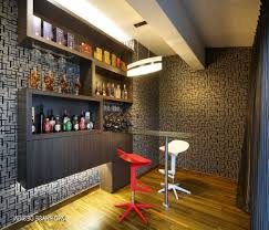 special mini counter for home bar with glass design for modern and minimalist look chic mini bar design
