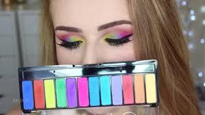 colourful makeup tutorial rainbow eyeshadow