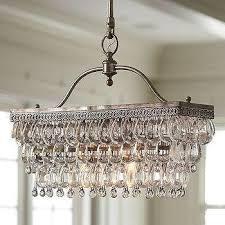 clarissa glass drop rectangular chandelier pottery barn