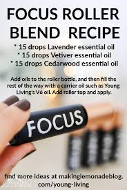 diy focus roller essential oil blend