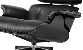 black lounge chair. Unique Black Ebony Eames Lounge Chair U0026 Ottoman Intended Black