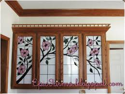 cabinet. stained glass for kitchen cabinets: Superb Leaded Glass ...
