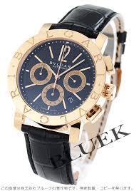 bluek rakuten global market bulgari bulgari pg pure gold bulgari bulgari pg pure gold automatic chronograph crocodile leather black mens bbp42bpgldch watch watch