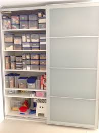 My Ikea Pax wardrobe used as a kitchen pantry