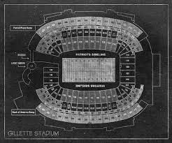 Mcguirk Stadium Seating Chart Vintage Print Of Gillette Stadium Seating Chart On Photo