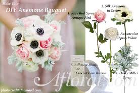 diy anemone wedding bouquet idea