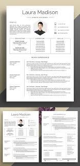 Modern Resume Template Free Download Word Resume Template Cover Letter Resumes Kreativer