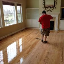 lots of scratches sand and refinish if your floor
