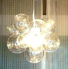glass bubble chandelier le glass chandelier shades lovely les for image of pendant light glass bubble
