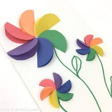 Flower Out Of Paper How To Make Easy Rainbow Paper Flowers For Kids Twitchetts