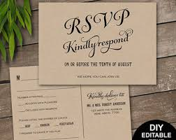 Rsvp Postcard Template Calligraphy Script Wedding Rsvp