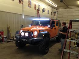 Jeep Jk Roof Lights Hood Glare With Roof Hood Mounted Lights Jeep Wrangler Forum
